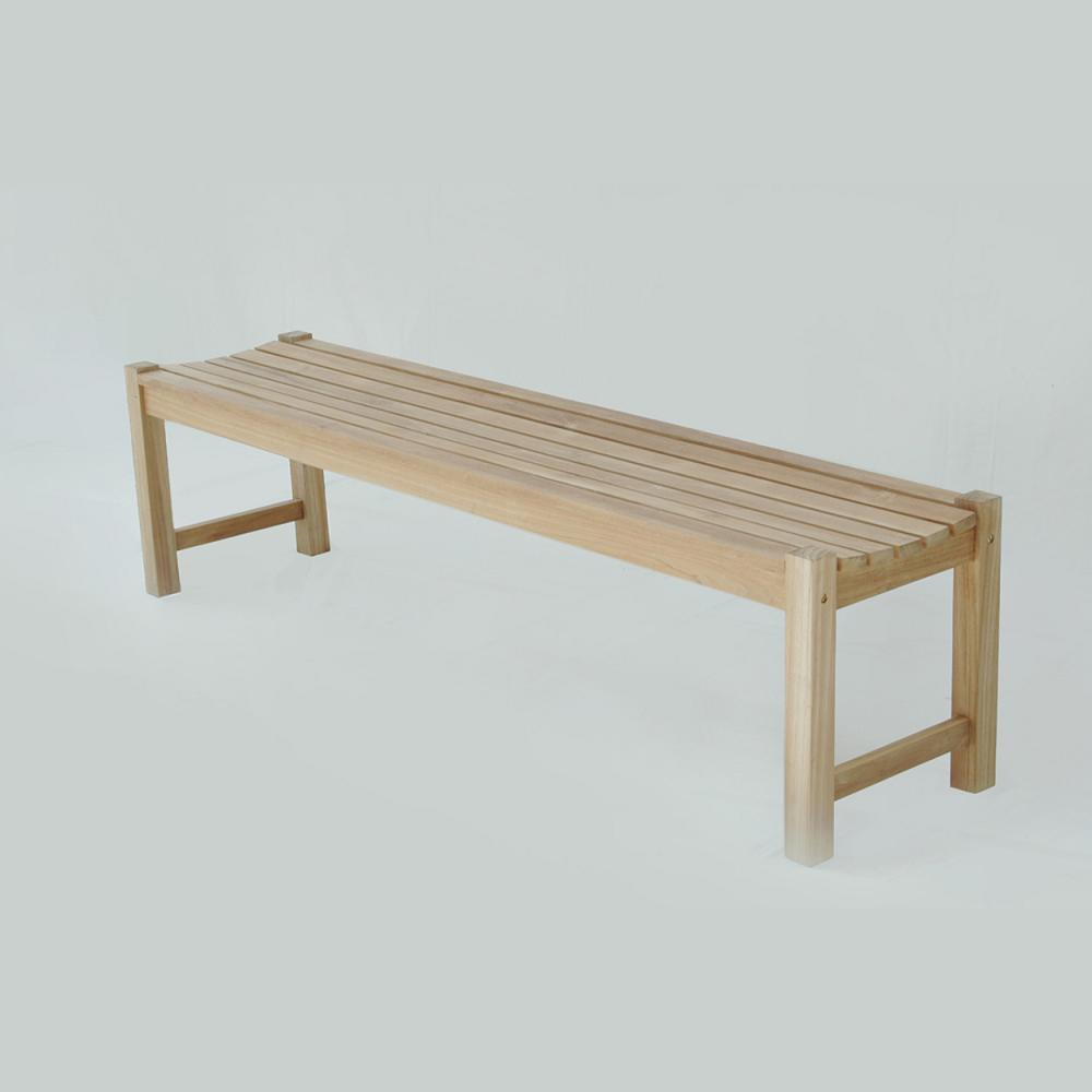 Santa Barbara Backless Bench 6ft with Stainless Steel Hardware