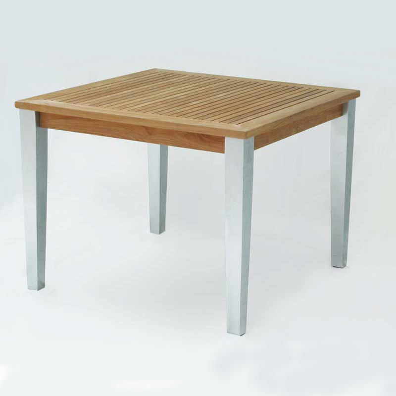 Square Table - Teak & Alloy - Mezzo Collection