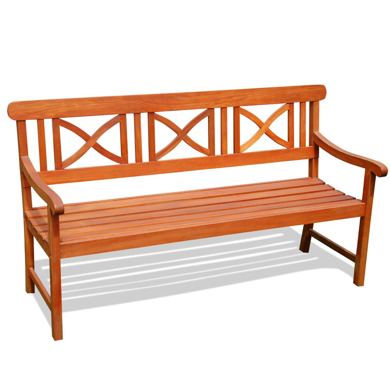 V100 Outdoor Wood Bench