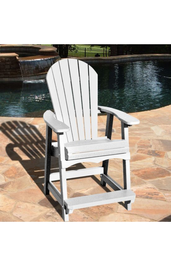 Recycled Plastic Bar Chair Adirondack Style