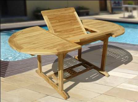 Outdoor Teak Oval 3-piece Table