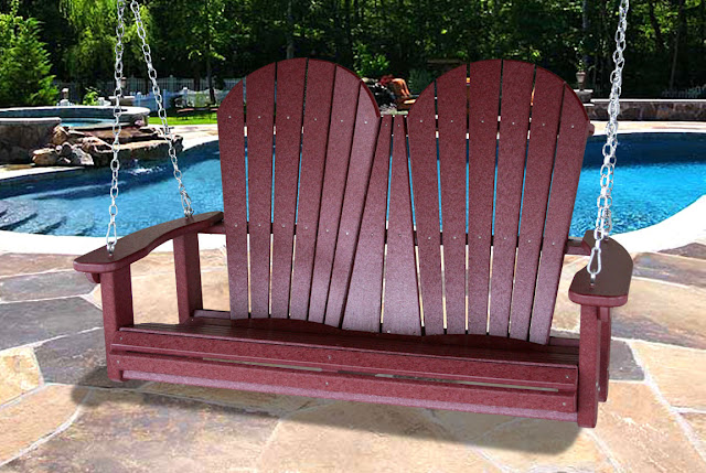 V1222 Outdoor Recycled Plastic Adirondack Swing