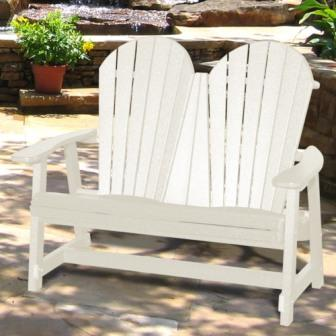 V1224 Outdoor Recycled Plastic Adirondack Bench