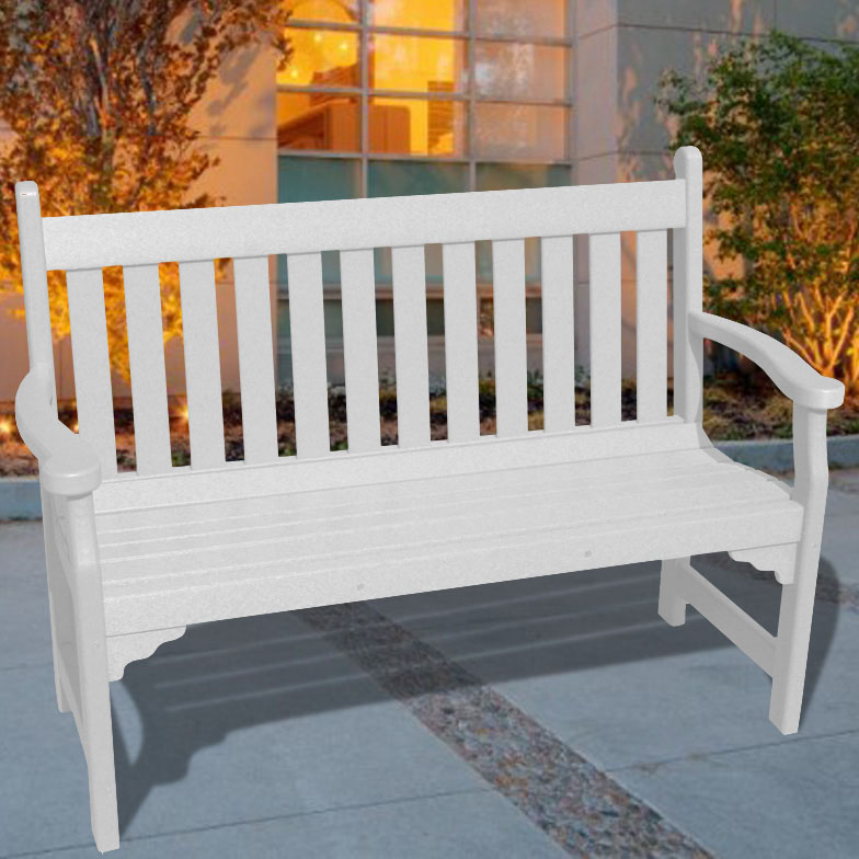 V1227 Outdoor Recycled Plastic Bench