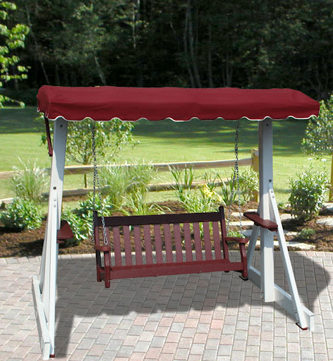 V1229 Outdoor Recycled Plastic Swing Frame without Canopy Top