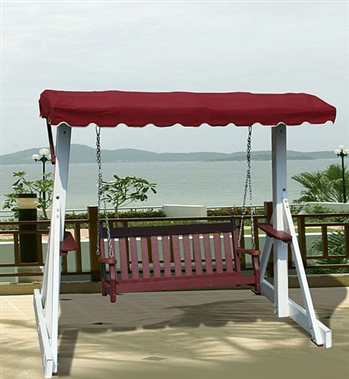 V1230 Outdoor Recycled Plastic Swing Frame with Canopy Top