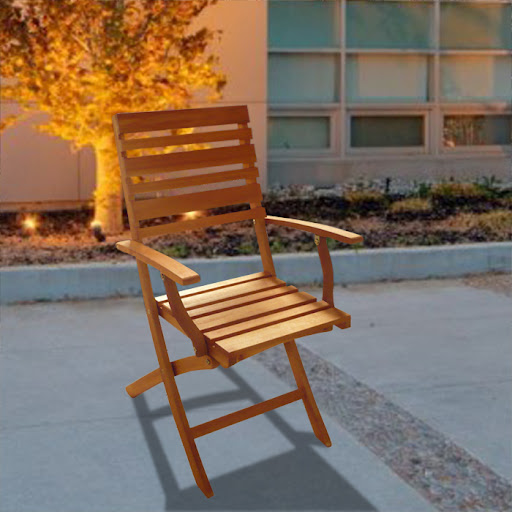 V1241E Outdoor Wood Folding Arm Chair