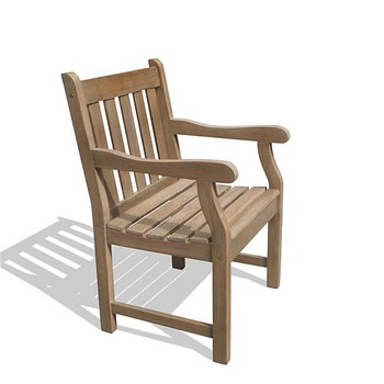 """V1279   Renaissance Outdoor Hand-scraped Hardwood Armchair"""