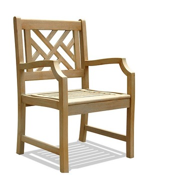 V1301 Renaissance Outdoor Hand-scraped Hardwood Armchair