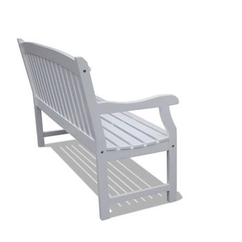 """V1343   Bradley Outdoor Wood Bench"""