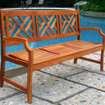 V188 Outdoor Wood Bench