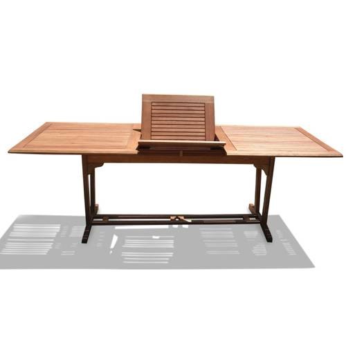Outdoor Wood Rectangular Extention Table with Foldable Butterfly