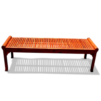 V437 Outdoor Wood Backless Bench