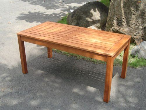 Outdoor Wood Conversation Table