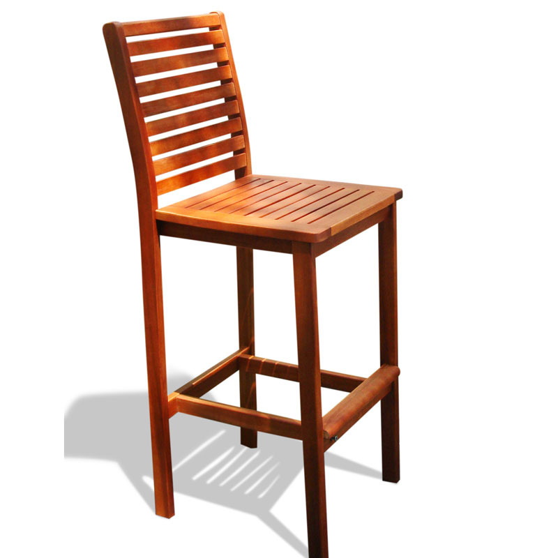 V495 Outdoor Wood Bar Chair