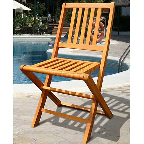V511A Outdoor Wood Folding Chair ( set of 2)