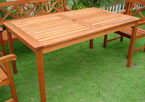 Outdoor Wood Rectangular Table
